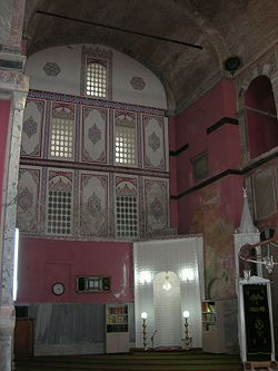 The sanctuary with the mihrab viewed from west.