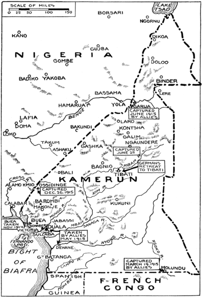 Fájl:Kamerun Campaign Map New York Times August 1915.png