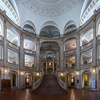 Entrance hall of Kammergericht, Berlin