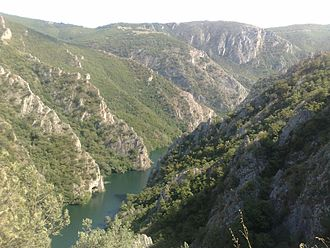 Matka Canyon - View from above