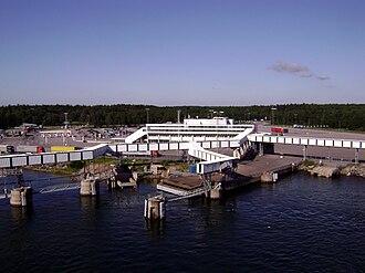 Kapellskär - Kapellskär port from MS Finnfellow.