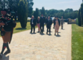 Karen Bradley MP lays a wreath at the Ulster Tower (43236657971).png