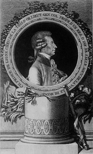 Jacob Adam - Charles-Joseph de Ligne by Jacob Adam, copper engraving, 1785