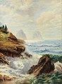 Karl Theodor Boehme - An der Küste von Ischia mit Blick auf die Faraglioni Felsen.jpg
