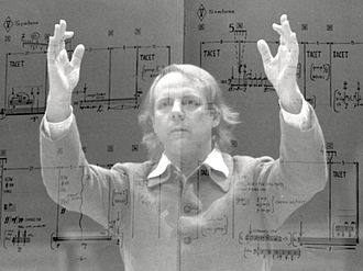 On the Corner - On the Corner was partly inspired by the musical concepts of Karlheinz Stockhausen (pictured in 1980).