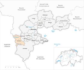 Karte Gemeinde Bichelsee 1995