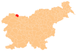 The location of the Municipality of Jesenice