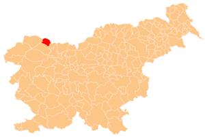 Municipality of Jesenice - Image: Karte Jesenice si
