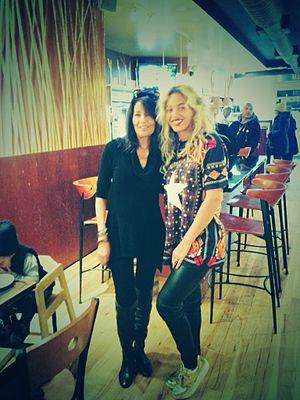Karyn Calabrese - Karyn and Beyoncé at Karyn's Cooked in December 2013