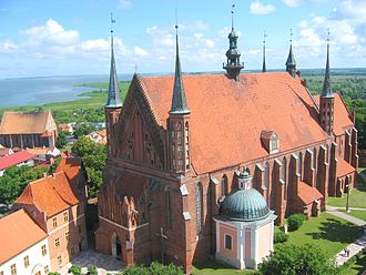 Roman Catholic Archdiocese of Warmia - Frombork Cathedral, with Vistula Lagoon in background.
