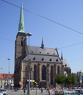 Cathedral of St. Bartholomew (Plzeň) - South elevation