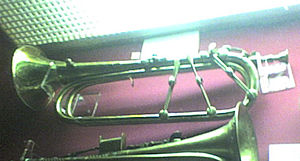 Keyed trumpet - A keyed trumpet at the Reid Concert Hall Museum of Instruments in Edinburgh.