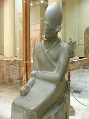 Statua di Khasekhemwy in scisto verde
