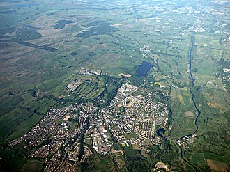 Kilsyth - Kilsyth from the air from 2016