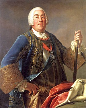 War of the Polish Succession - Augustus III of Poland, painting by Pietro Antonio Rotari