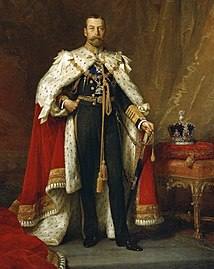 Full-length portrait in iles o George V