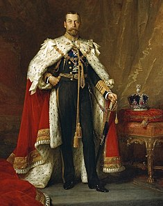 Full-length portrait in oils of George V