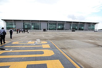 King Mswati III International Airport - Airside view of terminal