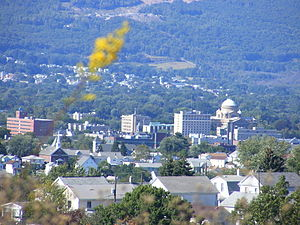 Laurel Run, Pennsylvania - A view of Wilkes-Barre from Giants Despair Mountain (in Laurel Run).