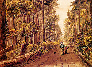 Ontario Highway 2 - A painting of Kingston Road east of Toronto in the 1830s.