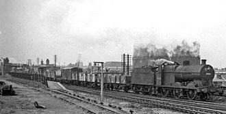 Kirkby-in-Ashfield - The now-closed Kirkby-in-Ashfield East railway station in 1963