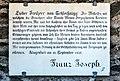 Klagenfurt Kreuzbergl 11 Gedenktafel Kaiser Franz Joseph 29012018 2456.jpg