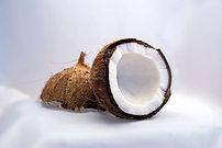 Kokusnuss, in Hälften gebrochen; Coconut, brok...