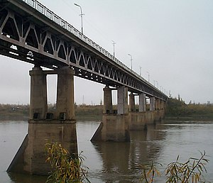 R504 Kolyma Highway - Kolyma River Bridge, at Debin