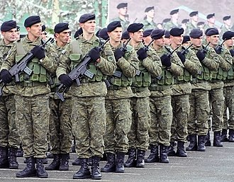 The Kosovo Security Force is the military of Kosovo and it aims to join NATO in the future. Kosovo Security Force FSK-KSF.jpg