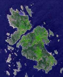 Satellitbillede af Kosteröarna.