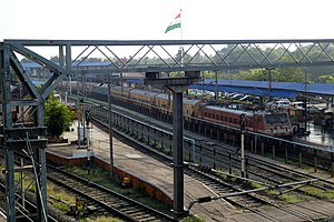 Kozhikode Railway Station from Bridge.jpg