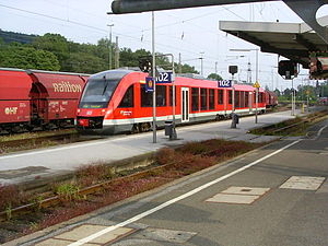 Brunswick Southern Railway - Kreiensen station with a Regionalbahn train to Goslar