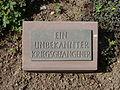 Kriegsopferfriedhof Kloster Arnsburg Grabstein Unbekannter Kriegsgefangener.JPG