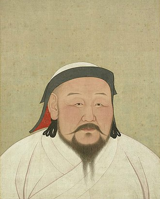 History of Beijing - Kublai Khan made Beijing the capital of Yuan dynasty. (Portrait by Araniko in Dadu in 1294. Collections of the National Palace Museum)