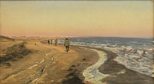 Kunstnere på vej til Skagen