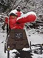 Kurama tengu statue covers with snow 20180114 02.jpg
