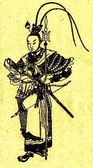 Lü Bu - A Qing dynasty illustration of Lü Bu