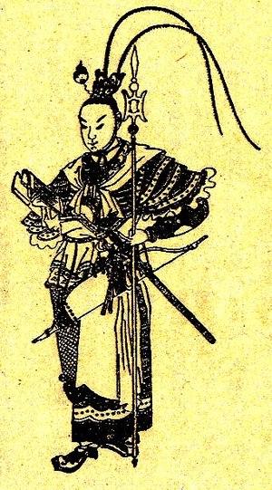 Lü Bu - A Qing dynasty illustration of Lü Bu