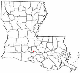 Localisation de Saint-Martinville