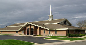 Worship services of The Church of Jesus Christ of Latter-day Saints - Latter-day Saint meetinghouse in West Valley City, Utah, US