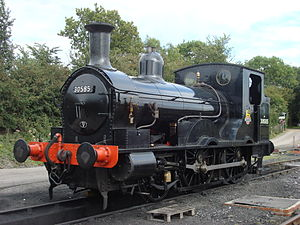 LSWR 0298 Class - Beattie Well Tank No. 0314 (30585) as modernised between 1889 and 1894. Photographed at the Buckinghamshire Railway Centre, where it is preserved.
