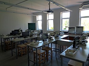 Microbiology - Food microbiology laboratory at the Faculty of Food Technology, Latvia University of Agriculture.