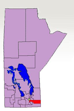 La Verendrye (electoral district) - Boundaries of La Verendrye in 1997, highlighted in red.