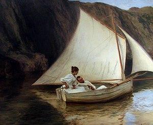 Émile Friant - Image: La petite barque E Friant Nancy 2718