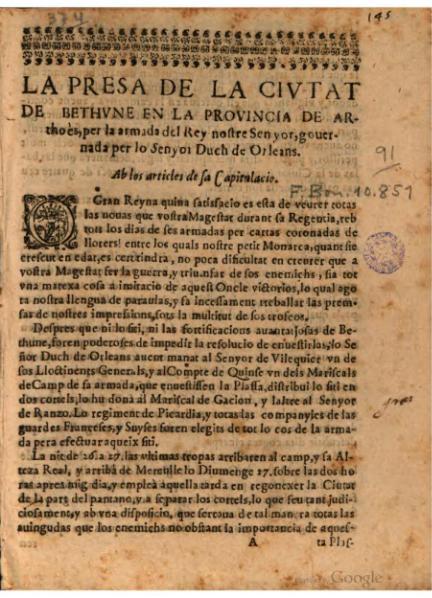 File:La presa de la civtat de Bethvne (1645).djvu