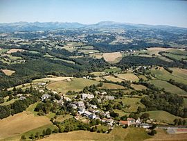 An aerial view of Labrousse