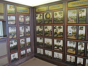 Lady Drury's Closet - Part of the emblematic panelling from Lady Drury's painted closet, originally at Hawstead Place near Bury St Edmunds