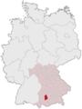 Lage des Landkreises Landsberg am Lech in Deutschland.png