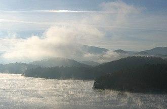 Graham County, North Carolina - November sunrise on Lake Santeetlah, Graham County, North Carolina