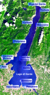 Karte Italien Gardasee.Gardasee Wikipedia